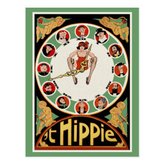 Vintage Postcard:   't Hippie by C. Verschuuren Postcard