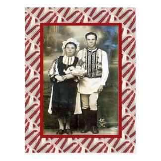 Vintage, postcard, Wedding couple 1910 Postcard
