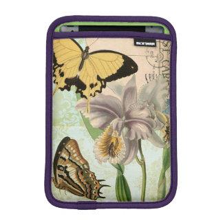 Vintage Postcard with Butterflies and Flowers iPad Mini Sleeve