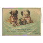 Vintage Postcard With Cute Scrap Book Dogs Greeting Card