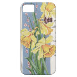Vintage Postcard Yellow Daffodils iPhone 5 Case