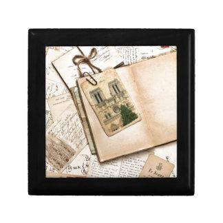 Vintage Postcards & Letters Trinket Boxes