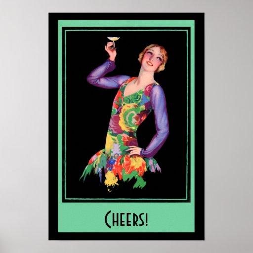 Vintage Poster - 1920's Flapper Girl