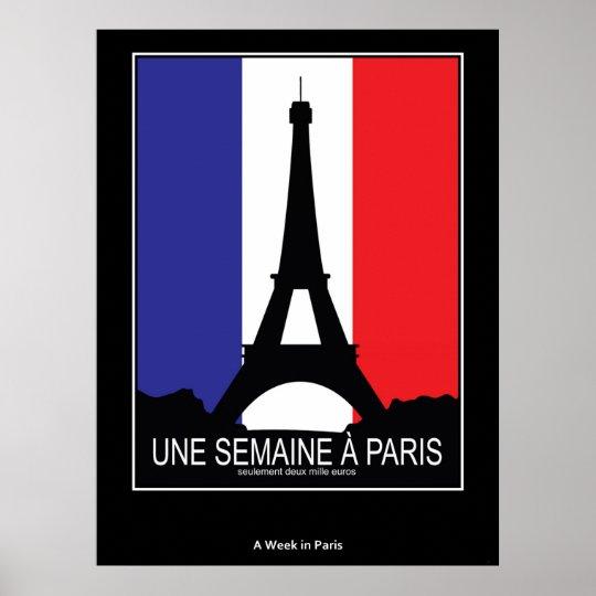 Vintage Poster A Week in Paris