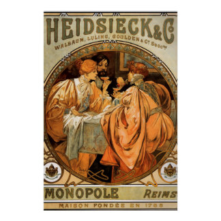 Vintage Poster Alphonse Mucha Biscuits Ad 2