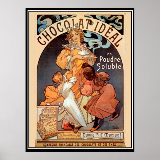 Alphonse MUCHA ART Chocolate advertising poster canvas print art nouveau