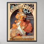 Vintage Poster alphonse mucha Chocolate Ad Poster