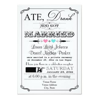 Vintage Poster and Chalkboard Wedding Invitation