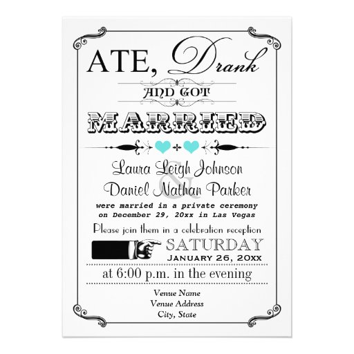 Vintage Poster and Chalkboard Wedding Invitation 3