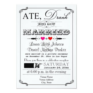 Vintage Poster and Chalkboard Wedding Invitation 4