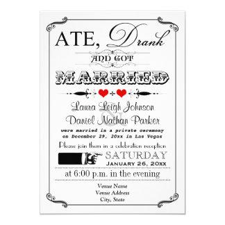 Vintage Poster and Chalkboard Wedding Invitation 5