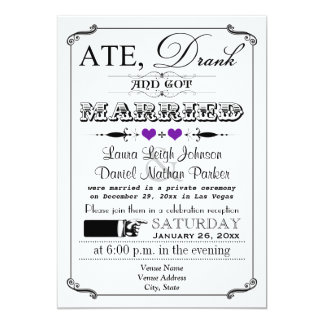 Vintage Poster and Chalkboard Wedding Invitation 6