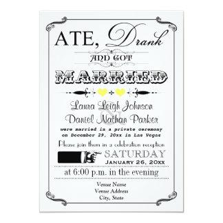 Vintage Poster and Chalkboard Wedding Invitation 7