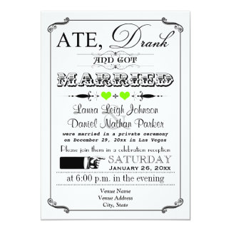 Vintage Poster and Chalkboard Wedding Invitation 7