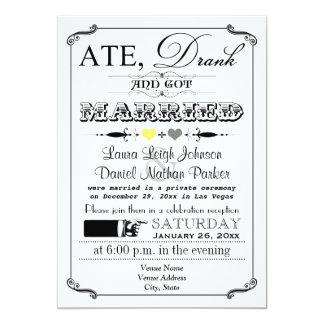 Vintage Poster and Chalkboard Wedding Invitation 8