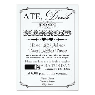 Vintage Poster and Chalkboard Wedding Invitation 9