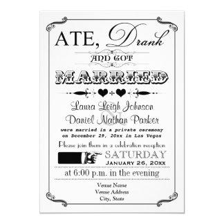 Vintage Poster and Chalkboard Wedding Invitation 9