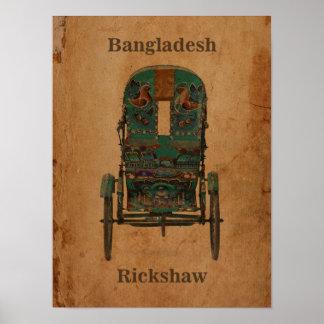 Vintage Poster Bangladesh Rickshaw