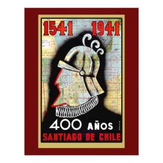 Vintage Poster Celebrating Chile Flyer