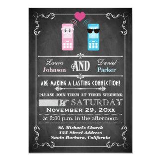 Vintage Poster, Chalkboard Style Wedding Invite