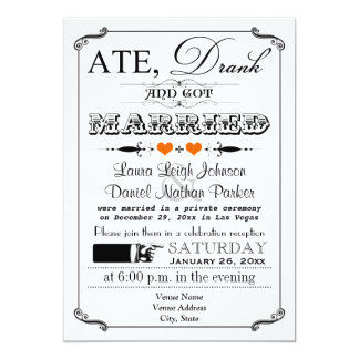 Vintage Poster & Chalkboard Wedding Invitation 10