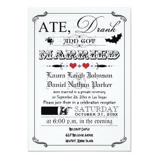 Vintage Poster & Chalkboard Wedding Invite - Red