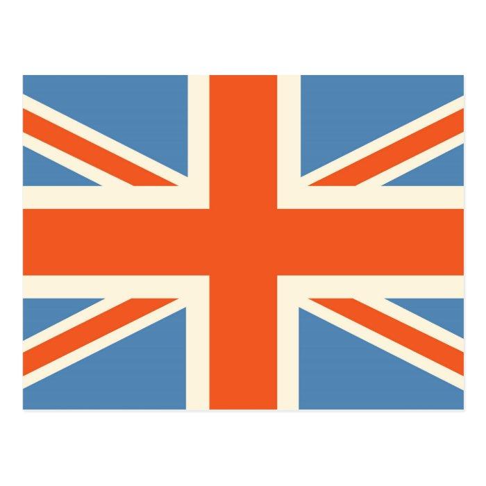 Vintage Poster Classic Union Jack British(UK) Flag Postcard