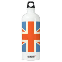 Vintage Poster Classic Union Jack British(UK) Flag Water Bottle