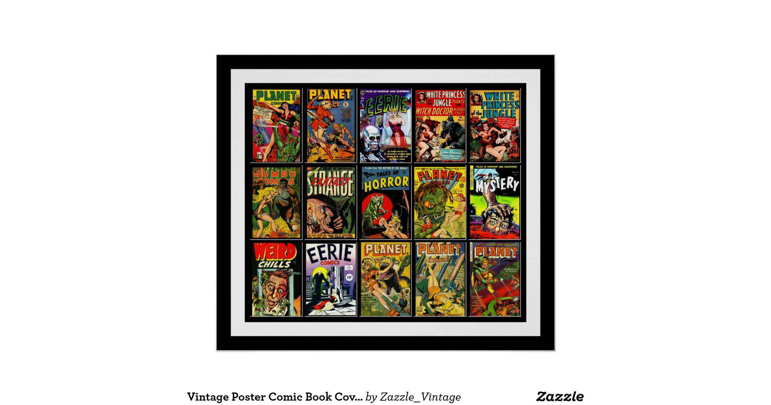 Classic Book Covers Collage ~ Vintage poster comic book covers collage a