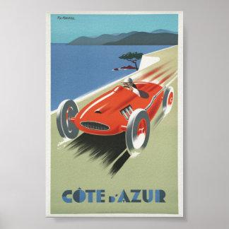 Vintage Poster Cote de Azur French Riviera