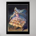Vintage  Poster Dancer Print Posters