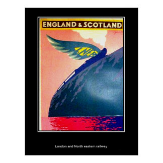 Vintage poster England And Scotland Rail