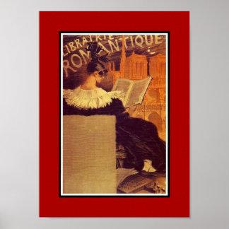 Vintage Poster Famous Artists Librairie Romantique