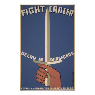 Vintage Poster - Fight Cancer - SMALL POSTER