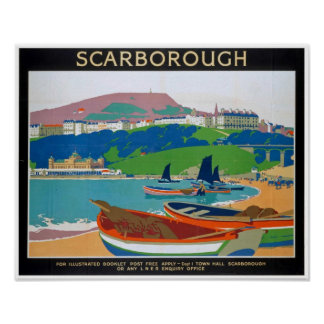 Vintage Poster for Scarborough in Yorshire England