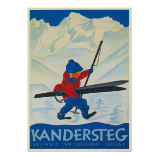 Vintage Poster from the Swiss Alps