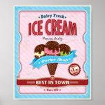 Vintage poster ice cream