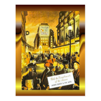 Vintage poster, John Haig and Co, Whisky Postcard