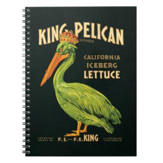 Vintage poster King Pelican Iceberg Lettuce Notebook