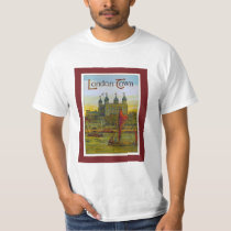 Vintage poster, London Town, Thames barge T-Shirt