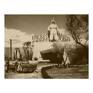 Vintage Poster Of Las Vegas Dunes Casino