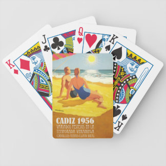 Vintage poster Old Tourism Cadiz 1956 Bicycle Playing Cards