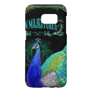 Vintage Poster Peacock Art Typography Painting Samsung Galaxy S7 Case