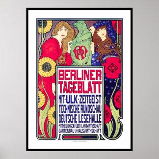 Vintage Poster Print: BerllinerTageblatt