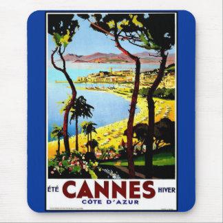Vintage Poster Print Cannes Côte-d'Azur, France Mouse Pads