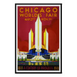 Vintage Poster Print Chicago World's Fair 1933