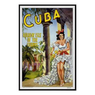 Vintage Poster Print Cuba Holiday Large