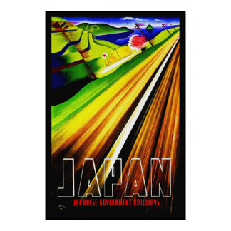 Vintage Poster Print Japan Japanese Railway Print