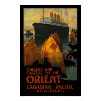 Vintage Poster Print Orient SteamShip Posters