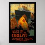 Vintage Poster Print Orient SteamShip Posters